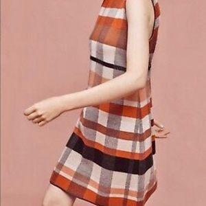 Siyu 100% wool plaid dress